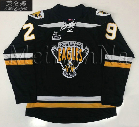MeiLunNa Customize QMJHL Cape Breton Screaming Eagles 29 Marc-Andre Fleury Jerseys Home Road Third Sewn On Any Name NO. цена