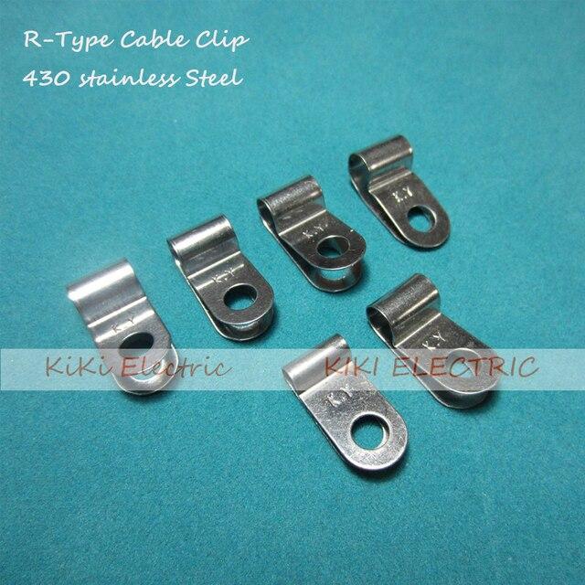 100 teile/los R typ 430 Edelstahl Kabel Clip/Draht Halter 9,0mm ...