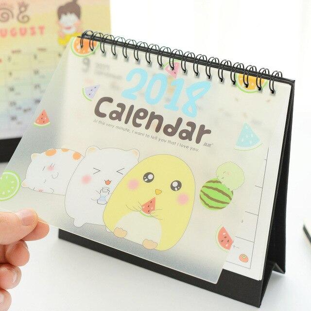 cute lovely table calendar diy daily agenda 2017 daily memo pad