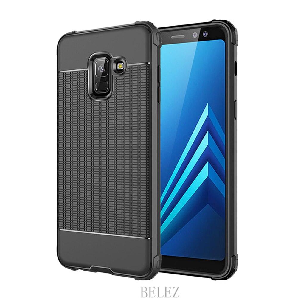 Luxury Carbon Fiber Cover for Samsung Galaxy A8 A6 A750 J4 J6 Plus A9 A6s 2018 Soft Case S7 edge S8 S9 Note 8 9 J2 J3 J5 J7 2017 7