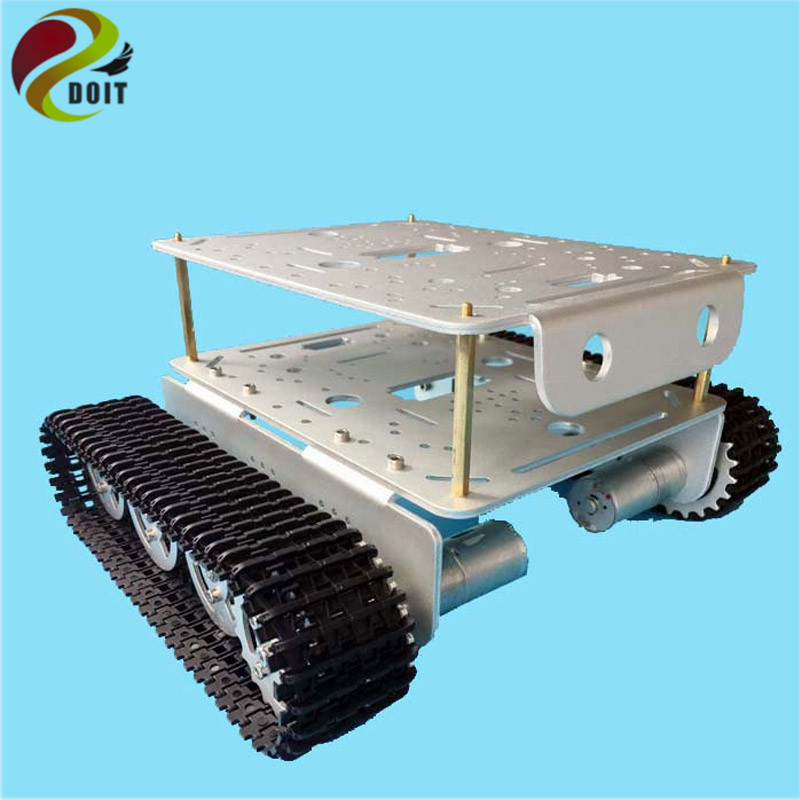 lost майка sleds td tank charcoal DOIT TD200 Double Metal Tank Chassis Robot Model Intelligent Car with Solid Structure 2 Motor Plastic Tracks Electronic Contest
