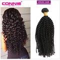 Peruvian Kinky Curly Virgin Hair Bundles 8A Connie Hair Products 1 Bundle Peruvian Virgin Hair Curly Weave Human Hair Extensions