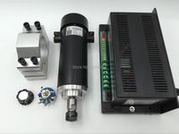 450w ER11 DC Spindle Motor+Power Supply+Mount Bracket 48v 52mm 0.45kw ER11 Spindle Kit