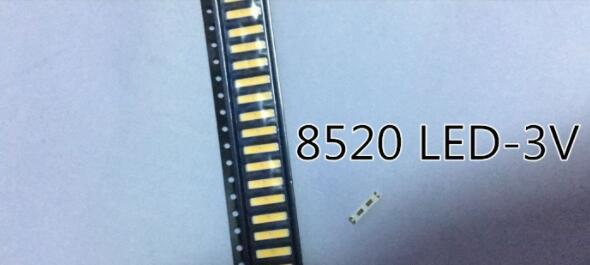 100PCS For <font><b>LG</b></font> <font><b>SMD</b></font> 8520 <font><b>LED</b></font> Backlight 0.5W 3V Cool white 50-55LM TV Application image