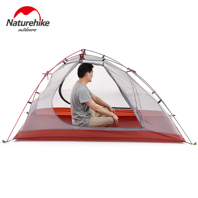Naturehike ultralight 1-2 person camping tent outdoor one bedroom 3 season tent double layer single man hiking tents 3