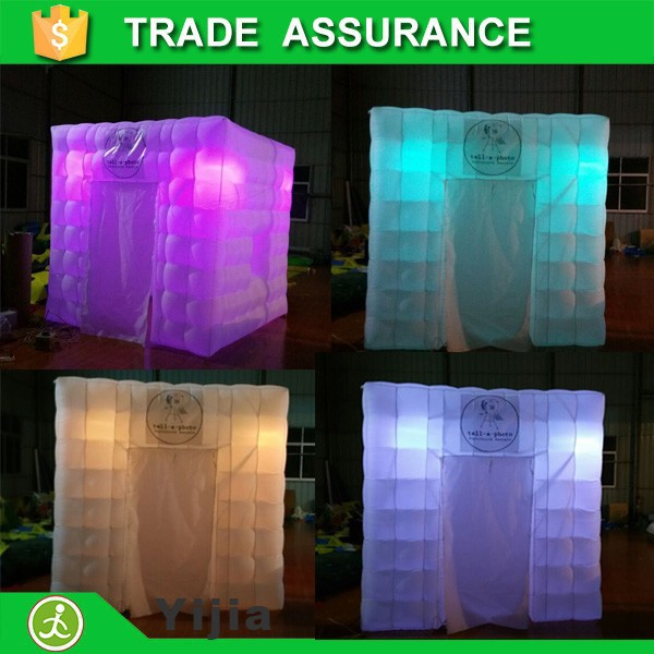 free shipping wholesale lighting inflatable photo booth with led