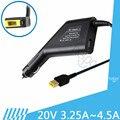 Cargador de coche adaptador del ordenador portátil del ordenador portátil 20 v 4.5a 90 w para lenovo thinkpad X240S E431 E531 G500 G505 T440 E360 E431 S3 Adaptador de Corriente