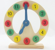 New wooden toy Color digital clock Moon Clock abay early education Free shipping