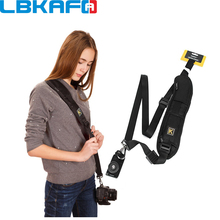 LBKAFA универсальный K Тип Камера ремень Камера одного плеча объектив черный слинг ремень для Canon Nikon sony Pentax DSLR Камера