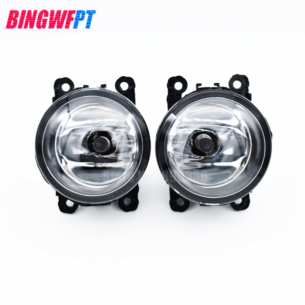 2PCS Fog Lamp Assembly Super Bright LED Fog Light For For Renault LOGAN Saloon LS 2004-2015 Halogen Fog Lights for dacia logan saloon ls