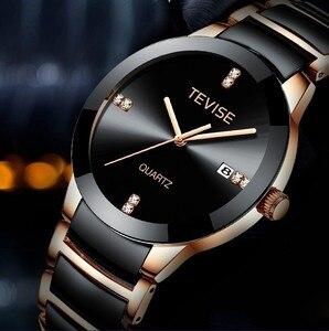 Image 3 - Tevise homem relógio 2020 marca de luxo quartzo relógio de pulso dos homens cerâmica personalidade casual masculino erkek kol saati t845gs