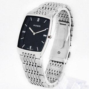 Marca original chino wilon qualidade superior relógios de pulso fino de dois pinos moda casual relógio masculino amantes à prova dwaterproof água