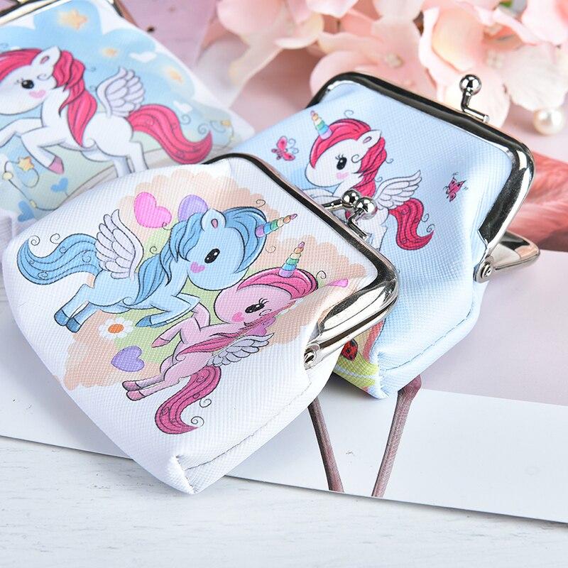 Cartoon Unicorn Flamingo Coin Purse Pouch Headset Bag Keychain Wallet Kids Toys