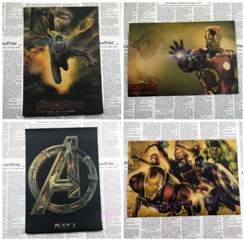 The avengers alliance iron man 2 poster proud beast era captain America movie posters bar cafe wall stickers /1002