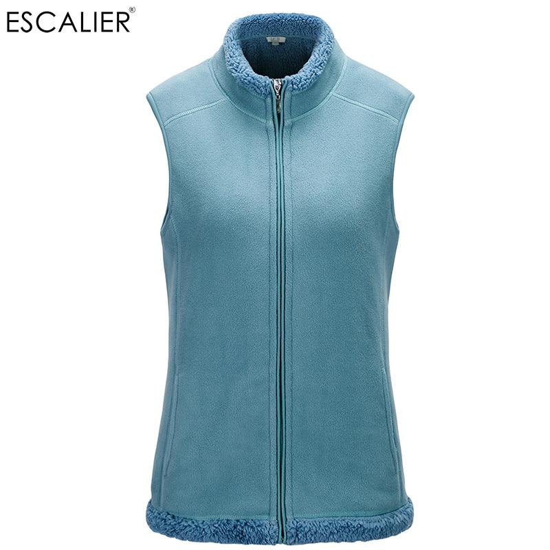 ESCALIER Naiste puuvillapehmest Vest pluss suurus Gilet Zipped kerge - Naiste riided