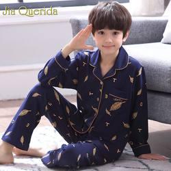J & Q/Детские пижамы, 2019 весенние модные пижамы, Детская домашняя одежда из 100% хлопка для мальчиков, высокое качество, пижамный комплект для