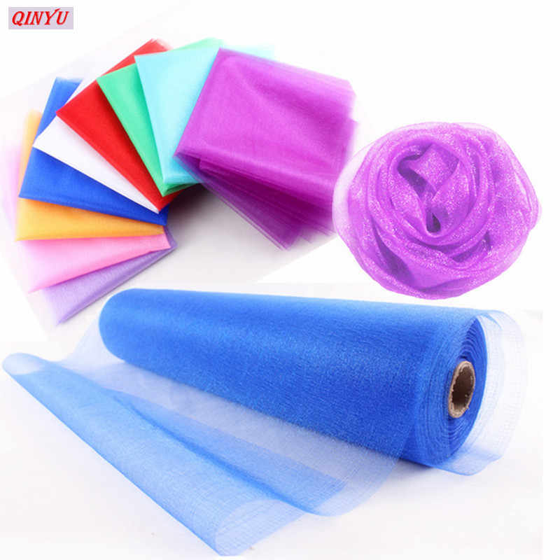 ... 48cmx5m Tulle Roll Flower Wedding Dress Gauze Elements Flower Door Party  Decoration Spool Party Birthday Gift ... cc5c97032163