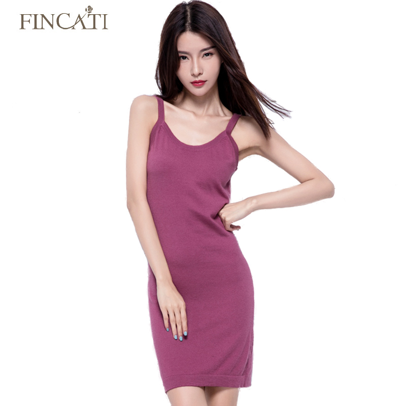 Dresses Women Silk Cashmere Blend Long Spaghetti Strap Knitted Stretched Sweater Dress Slim Fitted Sexy Camisoles Dress Tanks