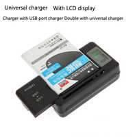 Adaptateurs universels de siège de Charge Mobile d'affichage à cristaux liquides chargeur de voyage de mur de batterie de téléphone portable avec le Port d'usb