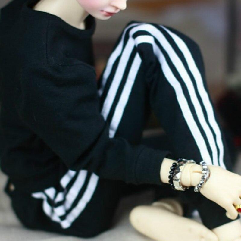 1/3 1/4 1/6 BJD sport suit three bar sports pants - soom sd13 sd17 sd16 yosd msd