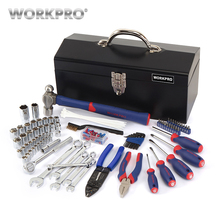 WORKPRO 160PC Home Tool Set Metal Box