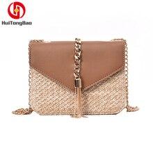 Womens Bags Handbags Straw Bag Fashionable Braided Liusu Beach Chain Slope Span Shoulder