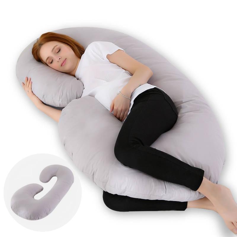 Pregnant Women New Sleep Pillow Cotton Pillowcase C-shaped Pregnant Women Pillow Pregnant Women Sleeping Pillow Bedding