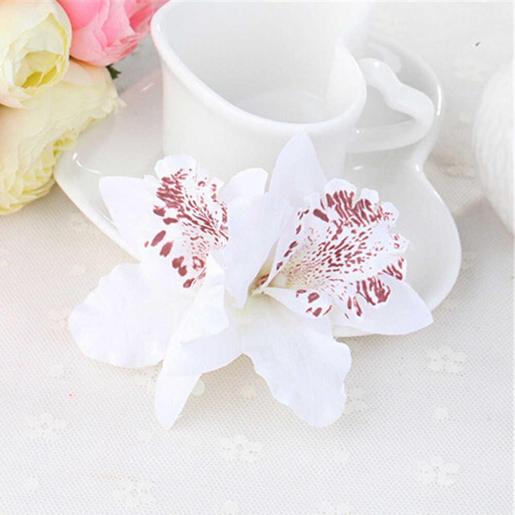 6 צבעים בוהמיה סגנון סחלב אדמונית כלה פרחי שיער קליפים סיכות סיכת לחתונה קישוט שיער אבזרים
