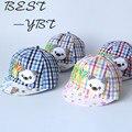 Niños de la edición de todo el algodón tapa acolchada primavera/verano parasol sombrero privada lovely baby hijo cap