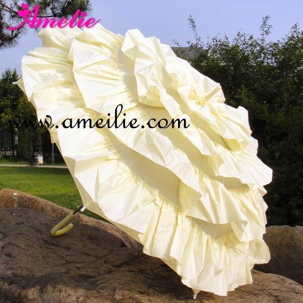10 Pcs Lot Free Shipping Frilly Parasols Cancan Wedding Lace Parasol Umbrella