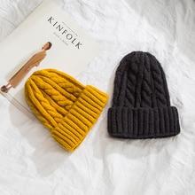 Plaid Knit Winter Hats For Women Beanies Girls Caps Ladies Bonnet Warm Skullies Gorres