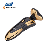 JINDING Electric Shavers Gold Shaver For Men 3D Spiral Shaving Machine Rechargeable Wash The Shaver Electric