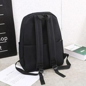 Image 3 - Trend kobiet plecak Korea styl kobiet studentów plecak tornister dla nastolatków dziewcząt nadruk w litery dziewczyny plecak