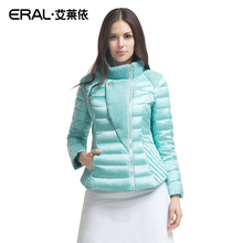 ERAL 2016 Winter Women's Slim Wool Patchwork Stand Collar Causal Short Down Coat Down Jacket ERAL2030D