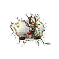 3D Pegatina de Navidad del Reno de la Navidad Impermeable Nieve Etiqueta de La Pared Tatuajes de Decoración de Navidad Adornos de Navidad Al Por Mayor 2017 @ GH