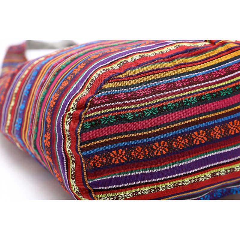 ce52951f58205d ... TANGIMP Women Ethnic Shoulder Bag Aztec Hippie Hippy Gypsy Boho Tribal  Big Embroidery Woven Hobo Sling ...