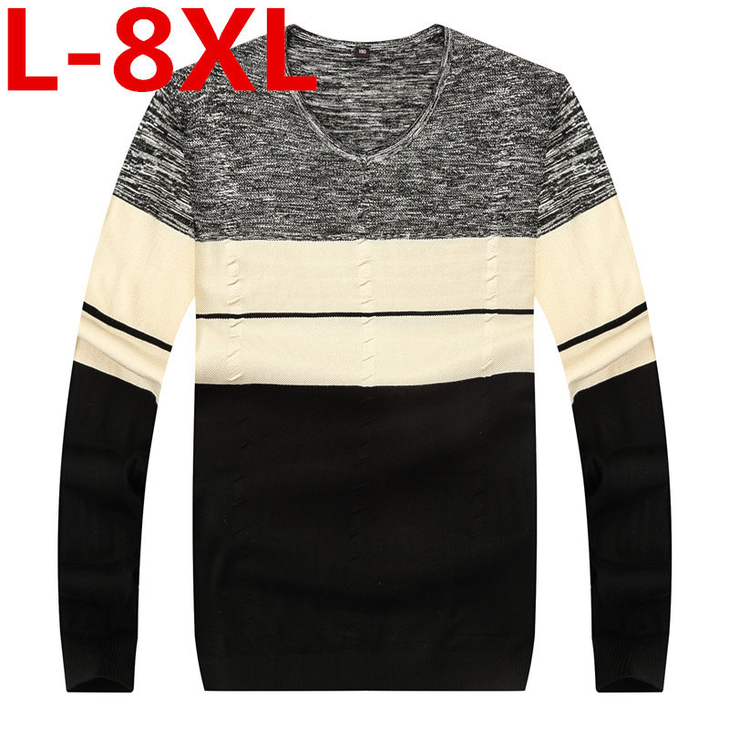 Plus la taille 8XL 7XL 6XL Chandail Hommes Pull Hommes O-cou En Tricot Chaud Pull masculino suéter Pull homme jersey Mâle chandail