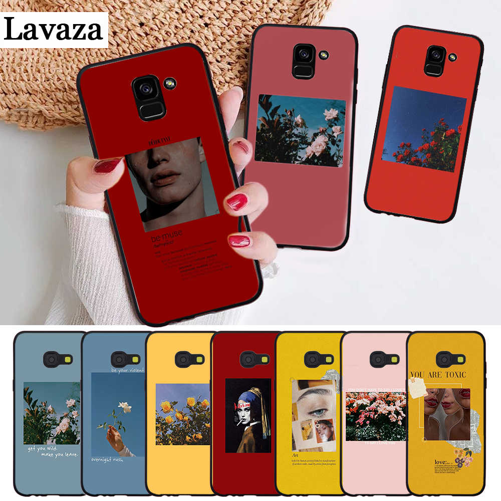 Lavaza Great art prints flowers Silicone Case for Samsung A3 A5 A6 Plus A7 A8 A9 A10 A30 A40 A50 A70 J6 A10S A30S A50S