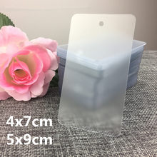 50pcs thickening PVC Frosted translucency Hang tag Clothing Shoe bag label Gift label 5x9cm,4x7cm
