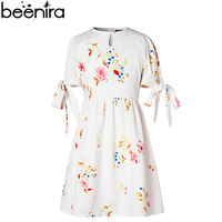 BEENIRA New Girls Dresses Child Princess Print Brand Short Sleeve Ball Gown for Party Children Knee Length Clothing High Quality