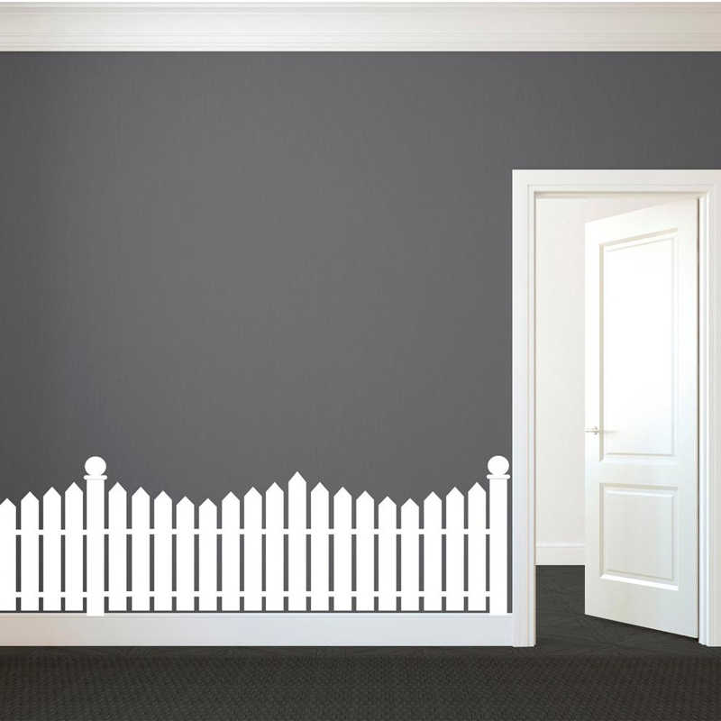 White Picket Fence Wall Decal Custom