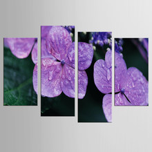 4Pcs/Set Poster Canvas Wall Art Flower Oil Paintings Pop Print Wall Pictures For Living Room Home Decoration Frame(China)