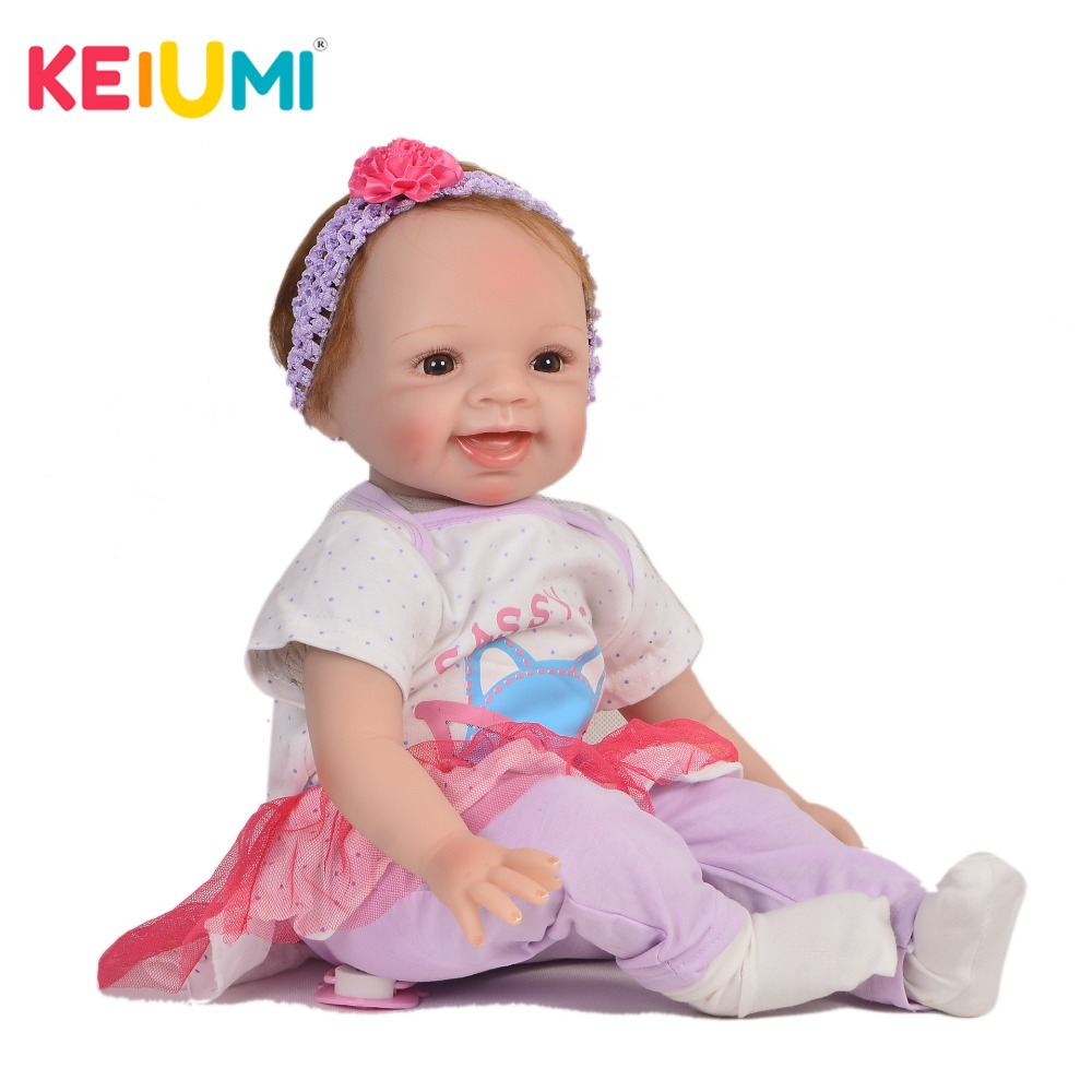 KEIUMI lifelike 22 Inch Newborn Baby Doll Cloth Body Realistic Lovely Baby Doll Toy For Children's Day Kid Christmas Xmas Gifts keiumi cute 22 inch reborn baby doll cloth body realistic fashion princess baby doll toy for children s day kid xmas gifts