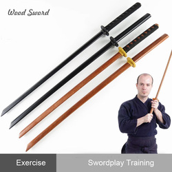 Personal Collection Cosplay Stage Property Sport Trainning Long Wood Sword