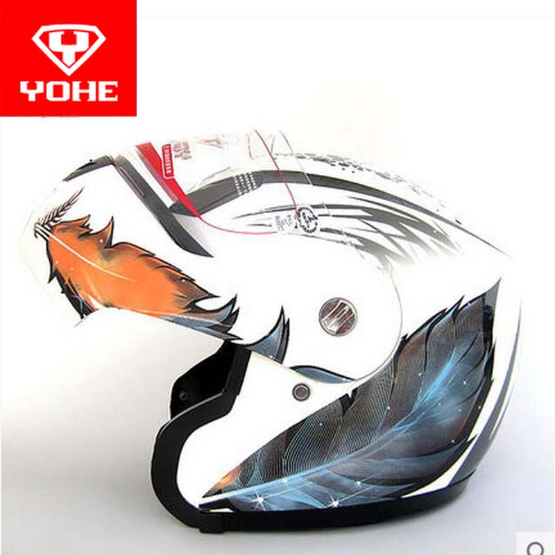 YOHE undrape face motorcycle helmet YH-936 open face Motorbike helmets made of ABS visor is for PC material 10 kinds of colors 2017 new ece certification ls2 motocross motorcycle helmet ff352 full face motorbike helmets made of abs and pc silver decadent