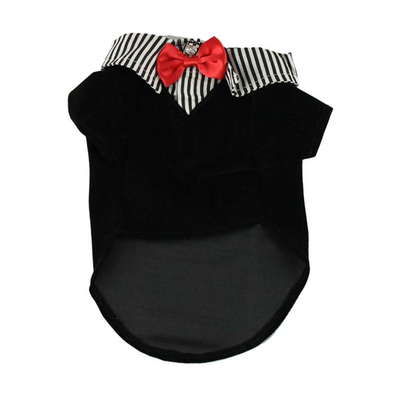 Pet Dog Shirt Western Style Mens Suit Bow Tie Puppy Costume Puppy Clothing Pet Summer Clothes S M L XL Sizes