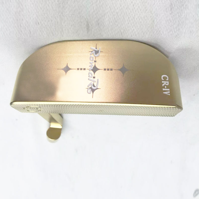 Cooyute New Mens Golf Heads RomaRo CR-IV Limited Edition Golf Putter Heads Gold Color Golf Clubs Head No Shaft  Free Shipping