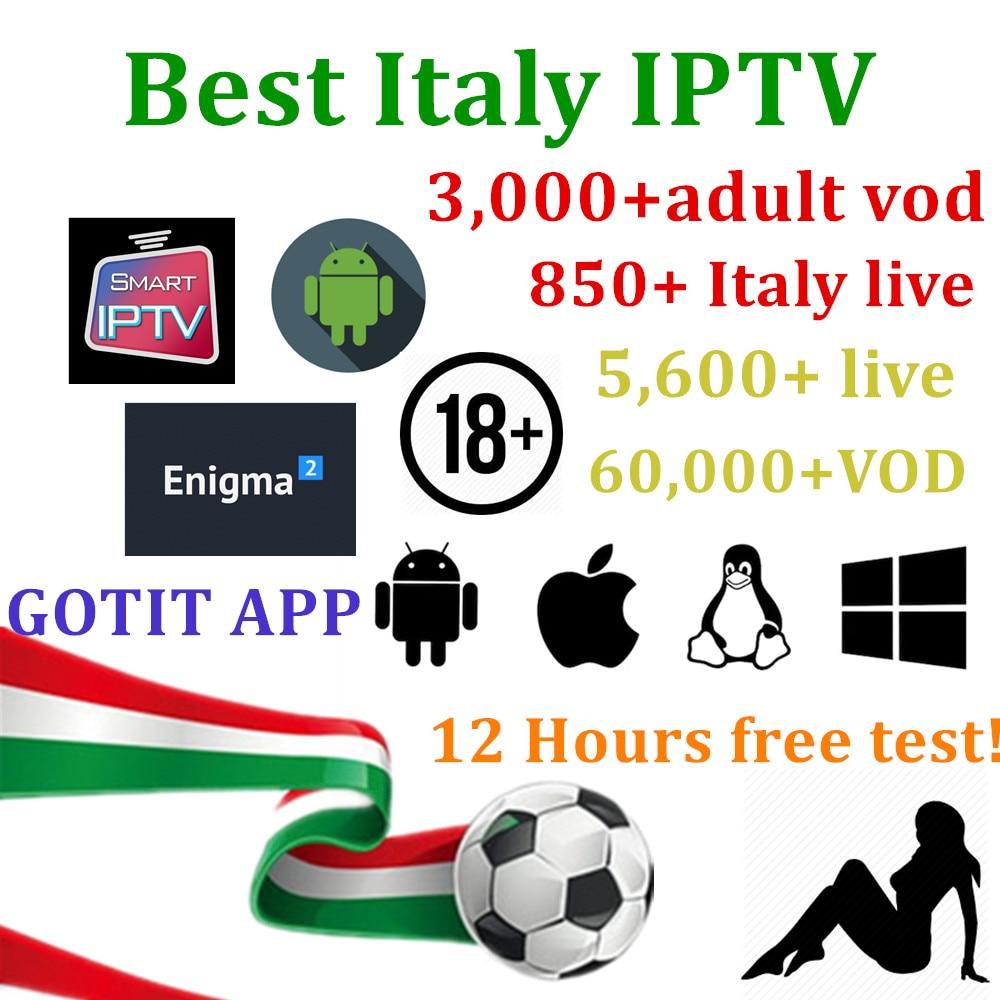 Italy IPTV 5,000 Live channels 60,000 VOD Italian Albanian Ex yu ...