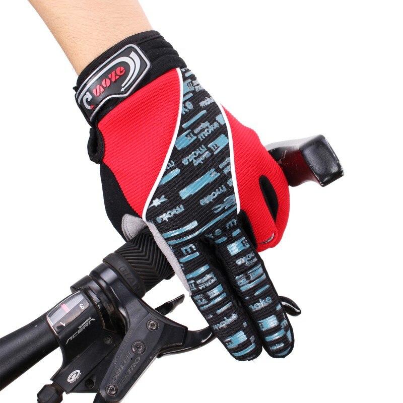 PU Full Finger Bicycle Gloves Anti-Slip Bike Cycling Ride Gloves Women Men Sport Skiing Motorbike Flexible Silica gel k5