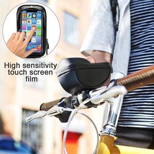 Image 2 - אופני אופניים טלפון הר שקית עמיד למים מול מסגרת למעלה צינור כידון תיק מגע מסך 6.0 אינץ MTB כביש אופניים טלפון מחזיק